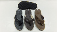 2016 New Products of men leather sandals and slippers