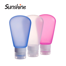 High quality portable soft empty cosmetic silicone lotion bottle
