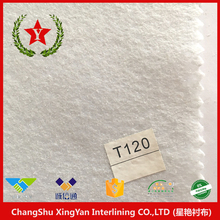 SDT120 needle punched fabric backing mesh lining adhesive fabric polyester for apparel, textiles & accessories