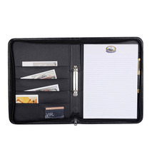High quality portable a3 size portfolio bag zipped padfolio portfolio case
