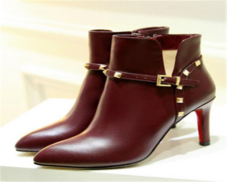 ankle boots for men high heel leather boots New arrival women boots high heels