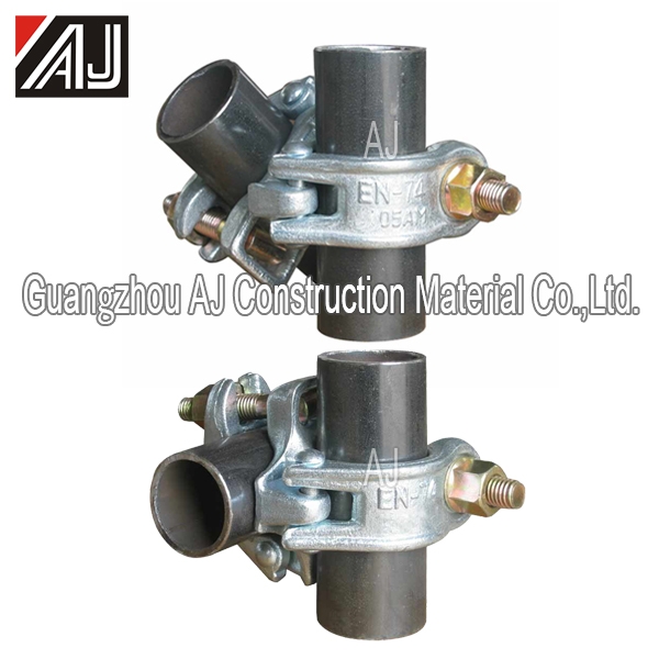 48.3*48.3mm steel drop forged double coupler swivel coupler