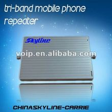 Hot sale!! tri band cell phone mobile signal repeater/booster/amplifier mobile signal booster gsm 980