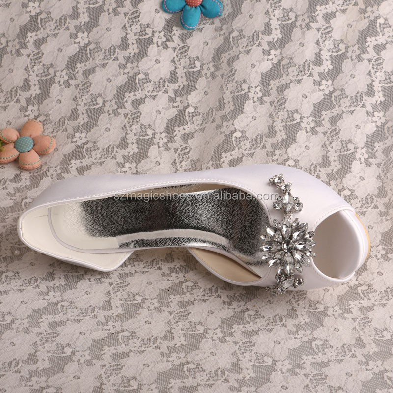 Christmas Party Shoes Off white Satin
