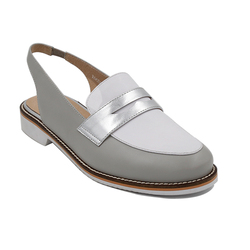 2017 New Arrival Grey/Silver/White Leather Custom Shoes Flat Women Shoes