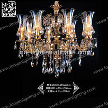 Italian magnetic clear crystal drop prisms modern chandelier lights