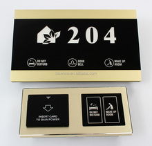 Customized electronic hotel room number Plates with many designs for choice