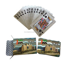 Silver foil dubai burj al arab gold playing cards