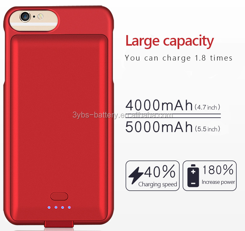 Mobile phone shell for iphone battery case power bank, 4000mAh 5000mAh battery case for iPhone 6 6s 7