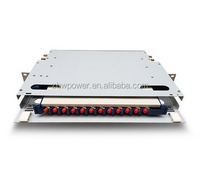 China wholesale ODF12 port fiber optic rack mounted frame, sc fc upc adapter distribution frame