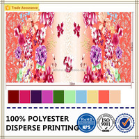 flowers printed bed sheet fabric 100% polyester microfiber fabric