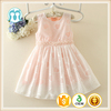 2017 summer round neck stylish party dress kid clothing cotton casual one piece baby girl dresses