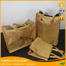 Plain OEM/ODM jute/burlap tote bag for shopping