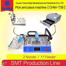 Charmhigh CHMT28 linea di Produzione SMT Pick and Place <span class=keywords><strong>Macchina</strong></span> + 4030 Pasta Saldante Stampante + <span class=keywords><strong>Reflow</strong></span> Forno BRTRO-418