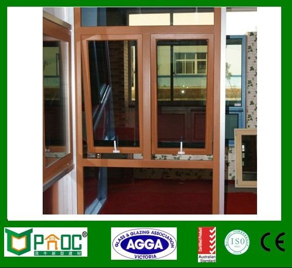 energy save prefabricated plastic house vinyl profile top hung window