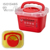 6L Red Plastic Sharps Container with PP Material for Environmental Conservation