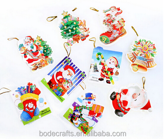 Santa Claus Christmas Tree Decoration wish card Xmas Party Gifts Ornament BD-5065