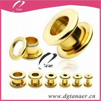 fashion 14k solid gold body jewelry