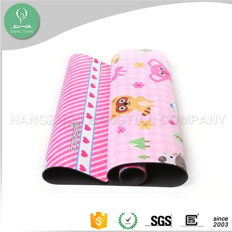 Fitness equipment yoga mat custom printed natural rubber eco baby play mat