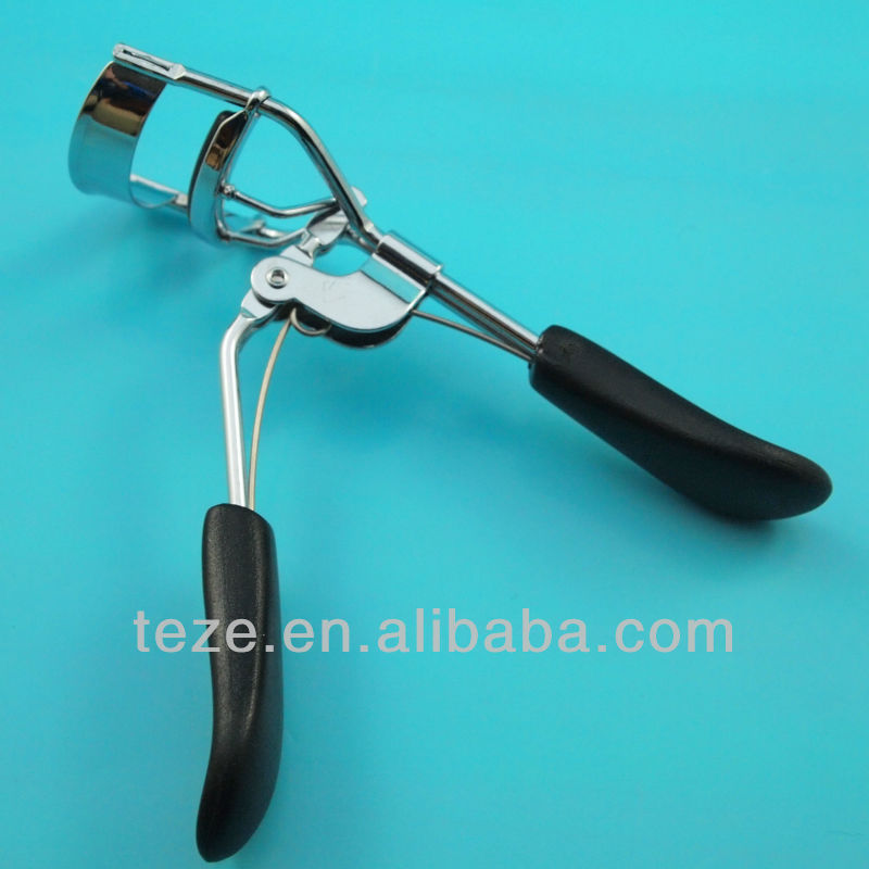 Black colored duck tongue shape high quality eyelash curler