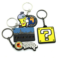 China Factory Custom Soft Pvc Keychain Soft Rubber Keychains Silicone Keyring