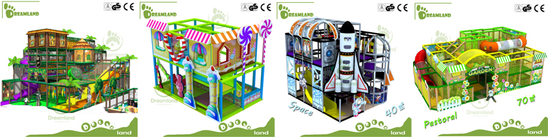 Dreamland kids theme indoor playground for indoor party centers