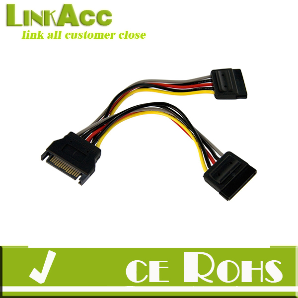 Linkacc1-th129 6-Inch Sata Power Y Splitter Cable Adapter - M/f with 50CM Sata Data Cable (Power+data Cable)