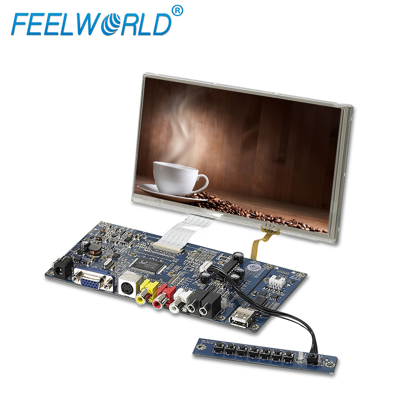 "TFT HD screen 7"" lcd panel with touch screen vga input"