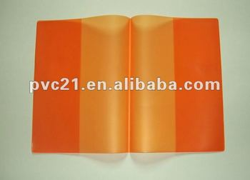 Customized Colored Plastic PVC Book Cover