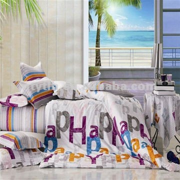 Child's mongrammed printed bedding set