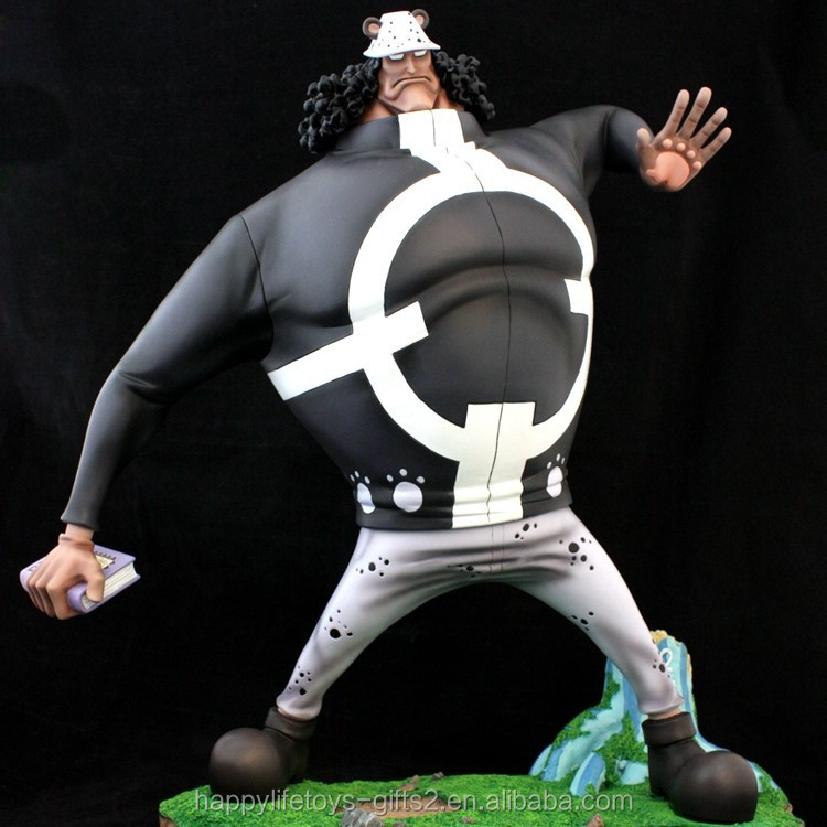 japanese cartoon characters one piece custom resin sculptures