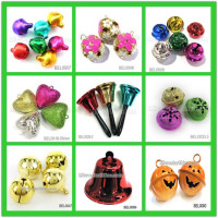In stock promotional cheaper hand metal iron christmas jingle brass bell