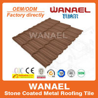 Traditional Wanael roof tile factory modern roof/2015 new building construction materials/metal roof prices