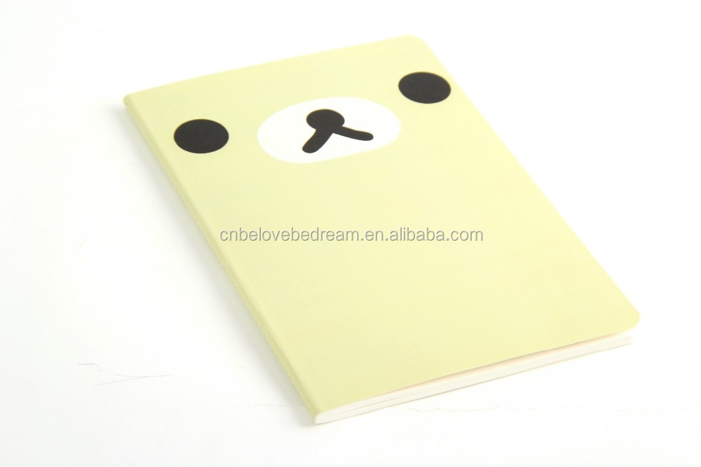 Fashion fast delivery time efficent functional custom high graded handbook with cute panda eyes printed for promotional