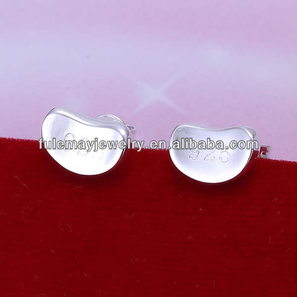 Latest fashion silver jewelry cute earrings