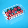 300g Flat Disposable Plastic Clamshell Strawberry Punnet with Hinged Lid