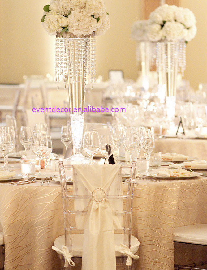 Tall wedding vases clear transparent vase for