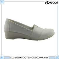comfortable women pu injection shoes high quality white nursing shoes