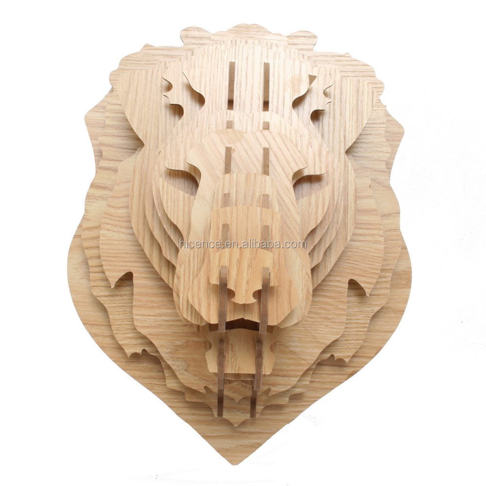 Wooden Wall-mounted animal head horse head for wall decoration