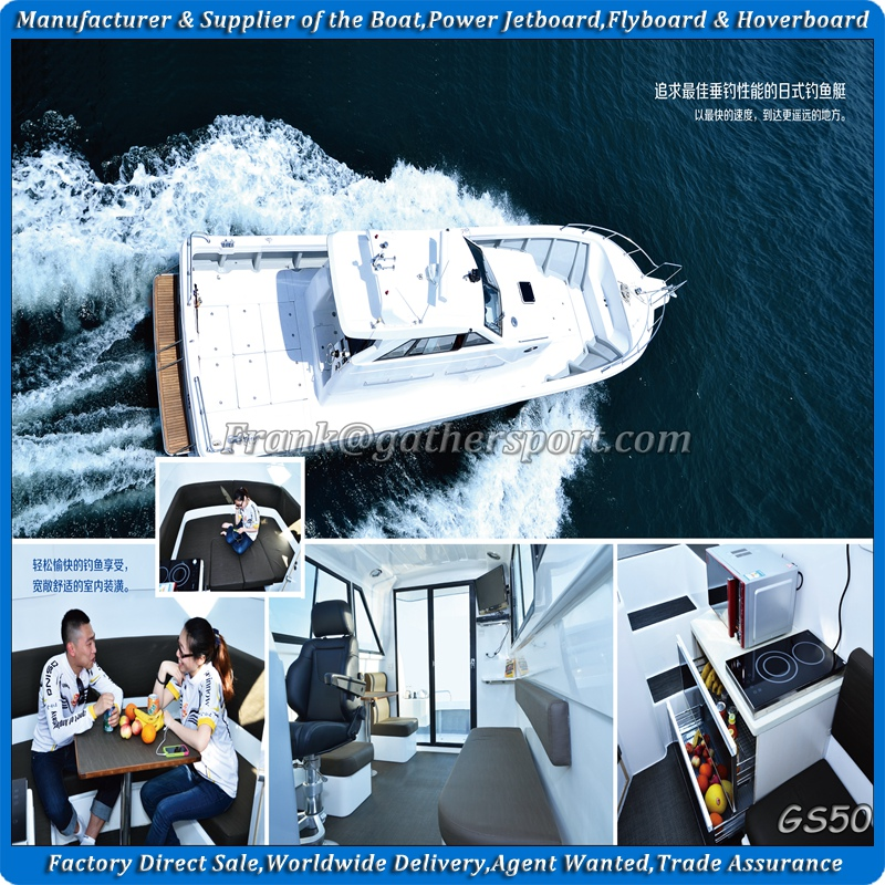 Gather 15m,50ft fiberglass fishing boat for sale