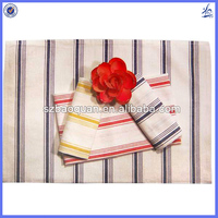 cotton and linen blend material kitchen towel/striped linen cotton tea towel