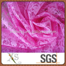 New Design Pink Flower Lace Fabric Ladies for Summer Dress