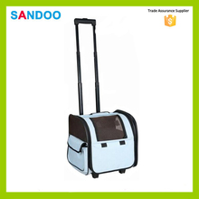 china supplier latest product small blue wheeled pet travel bag,wholesale pet carrier bag