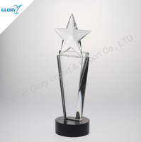 New Design Star Up Acrylic Awards With Black Base