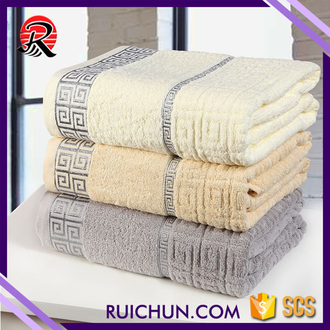 rectangle Shape and Jacquard Style 100% cotton bath towel for kids