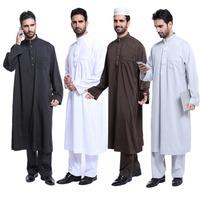 Popular islamic men's abaya fashion muslim clothing