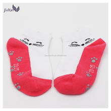 cute cat comfortable newborn non-slip cotton knitted baby girl socks