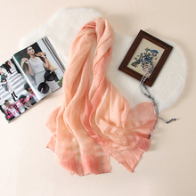 Winter female plain silk-wool blend pashmina shawls scarf