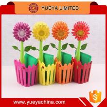 Novelty Multi-function Potted Sunflower Shaped Pan Cleaning Brush