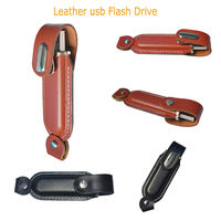 32GB New Cool Leather model USB 2.0 Memory Stick Flash pen Drive U DISK gift